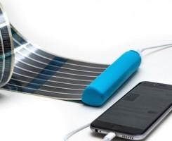 پانل های خورشیدی انعطاف پذیر و قابل حمل برای شارژ گوشی های هوشمند