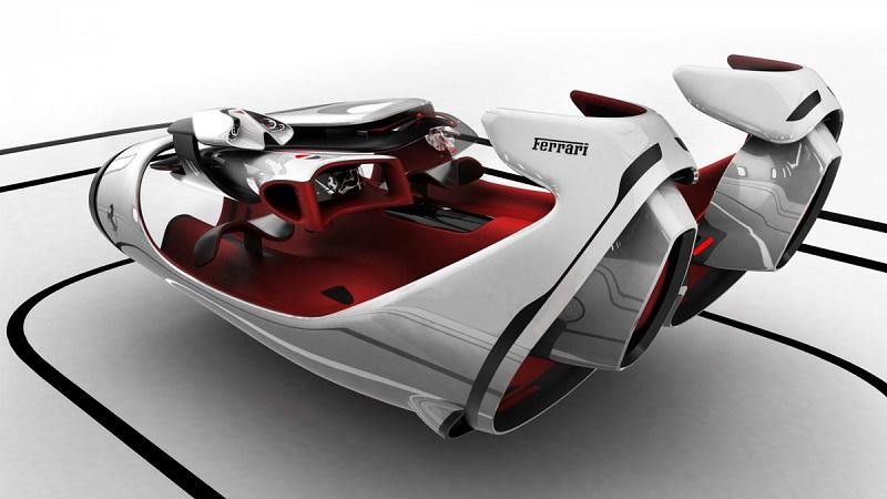 مقام دوم بهترین طراحی فراری به ماشینی که در تصویر زیر می بینید اختصاص یافت. این مدل با نام اف ال FL، تنها کانسپت طراحی شده بود که تم کابین ها و ماشین های مربوط به آینده در آن در نظر گرفته شده است.