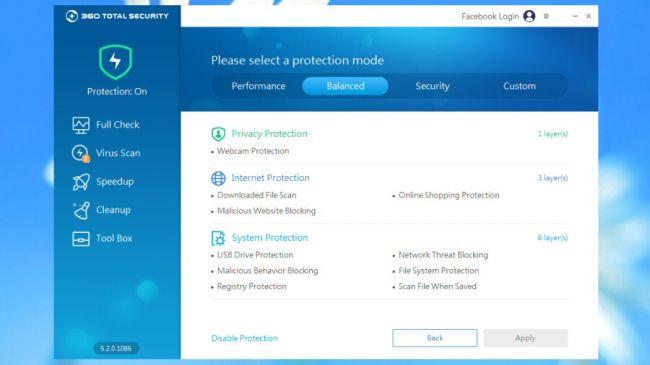 آنتی ویروس ۳۶۰ توتال سکوریتی (360 Total Security)