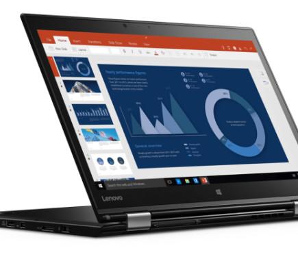لنوو یک لپ تاپ مبتنی بر ویندوز 10 به نام تینک پد یوگا ایکس وان که اولین لپ تاپ قابل تبدیل با یک صفحه نمایش OLED است،