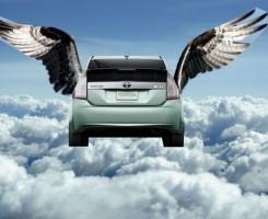 ماشین پرنده ؛ قدرت نمایی جدید کمپانی تویوتا
