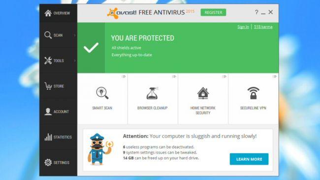 با وجود اینکه این برنامه ی رایگان آنتی ویروس و دانلود آن هیچ هزینه ای برنمی دارد، ولی ممکن است که برای قسمت های دیگری مجبور باشید هزینه کنید.