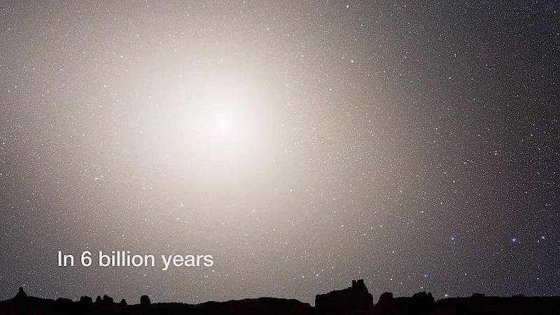 اما این پایان کار نیست؛ این مبارزه تا میلیاردها سال و تا زمانیکه دو سیاهچاله ی عظیم که در مرکز این دو کهکشان قرار دارد به یکدیگر نزدیک شده و ادغام شوند، ادامه خواهد داشت. بعد از 6 میلیارد سال از جنگ دو کهکشان، آسمان شب در زمین، با هسته های جدید و درخشان کهکشان جدید، فروزان خواهد شد، البته اگر زمینی باقی بماند. چرا که پیش بینی می شود خورشید تا 5 میلیارد سال دیگر زمین را خواهد بلعید.