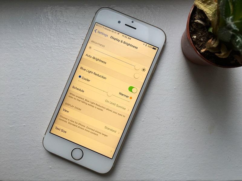 iOS 9.3 با قابلیت نایت شیفت