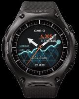 ساعت هوشمند کاسیو شباهت بسیار زیادی به یک ساعت مچی استاندارد دارد. هر چند که اندازه بزرگ آن (15.7 در 56.4 در 61.7 میلیمتر) تا حدودی به سمت ساعت های ورزشی متمایل شده است.