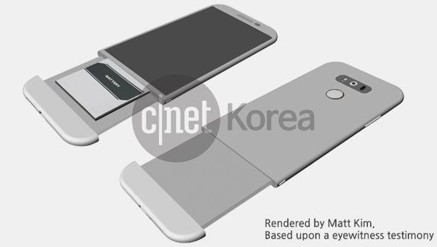 طراحی به بیرون درز شده از گوشی ال جی جی 5 نشان می دهد که این گوشی یک بخش قابل جابجایی دارد که امکان درآوردن باتری را فراهم می کنند.