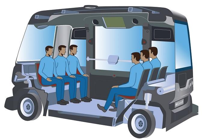 این اتوبوس خودران روز پنجشنبه هشتم بهمن ماه با شش مسافر در مسافتی 200 متری اولین آزمایش جهانی در نوع خود را انجام داد.