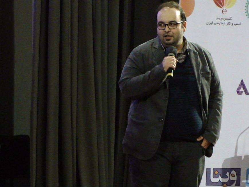 میلاد احرام پوش، بنیان گذار جشنواره موبایل روی سن، قبل از اعلام برگزیدگان بخش های مختلف هشتمین جشنواره وب و موبایل ایران