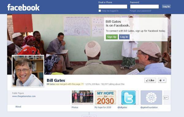 بعد از این معامله، بیل گیتس یک حساب کاربری در فیسبوک ایجاد کرد.