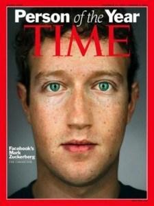 در ژانویه سال ۲۰۱۰، مجله ی تایم مارک زاکربرگ، بنیانگذار و مدیر عامل فیسبوک و میلیاردر ۲۶ ساله را به عنوان مرد سال ۲۰۱۰ انتخاب کرد.