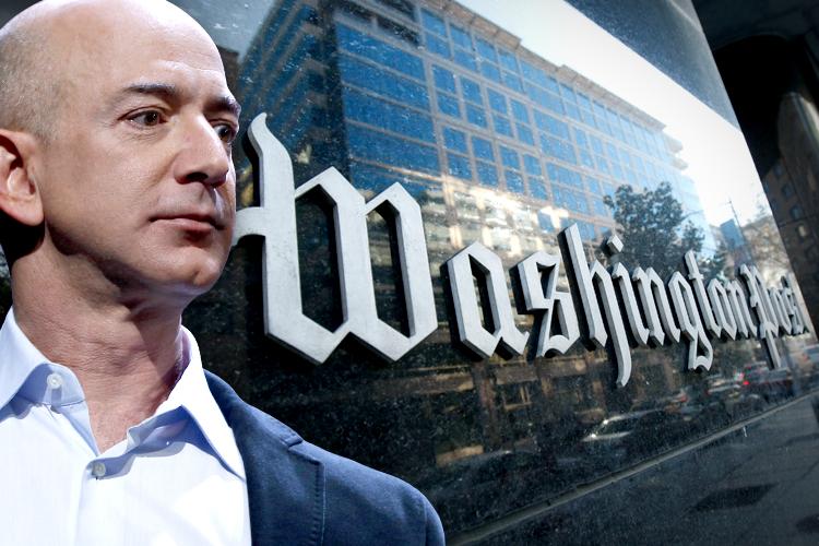 در ۵ آگوست سال ۲۰۱۳ بزوس بار دیگر در سراسر جهان سر تیتر اخبار شد. اینبار با خرید واشنگتن پست و تمام نشریات وابسته به این شرکت از جمله Washington Post Co به قیمت ۲۵۰ میلیون دلار .