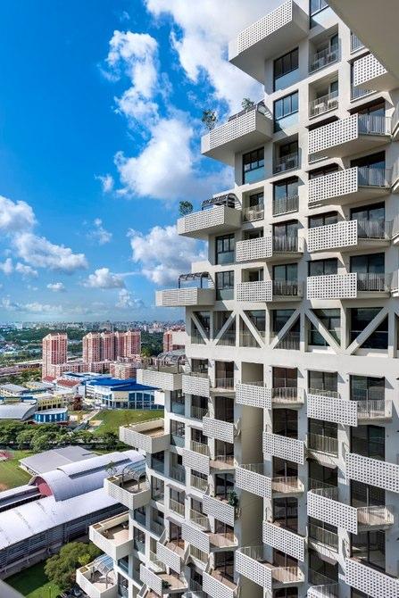 اسکای هبیتات در 38 طبقه ساخته شده است