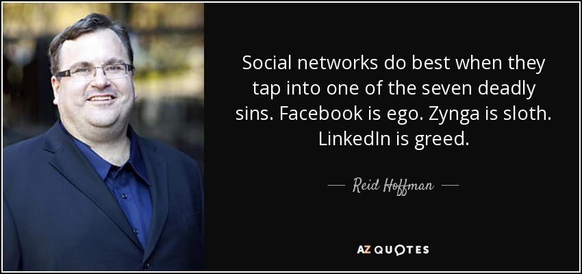 هافمن در همین حال که لینکداین در حال توسعه بود، به فکر پیشبرد سرمایه گذاری خود برای اولین بار در فیسبوک بود؛ کاری که پیشتر از آن برای سایت شبکه ی مصرفی Friendster انجام داده بود.