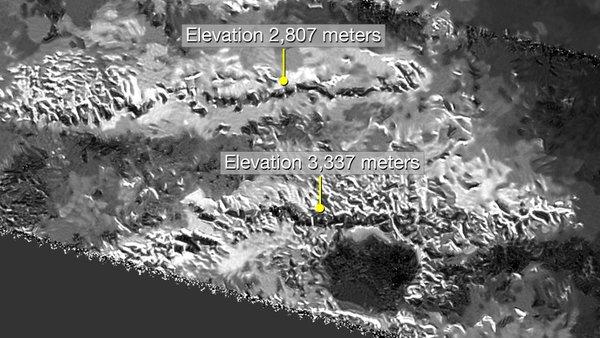 کشف بلندترین قله روی بزرگترین قمر سیاره زحل
