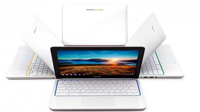 پیج همچنین مبادرت به کارهای سخت افزاری کرد و گوگل در ماه می سال ۲۰۱۲ از کروم بوک رونمایی کرد. این محصول سخت افزاری یک لپ تاپ بود که سیستم عامل گوگل، کروم او اس (Chrome OS) را اجرا می کرد.