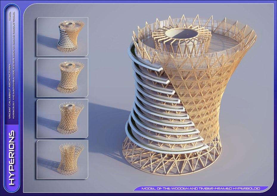 هرچند در نگاه اول اینگونه تصور می شود که این برج از چوب (چوب های جنگل دهلی) ساخته شده ولی لازم به ذکر است که در ساختار این برج از جمله فونداسیون آن، از بتن و فولاد هم استفاده شده است.