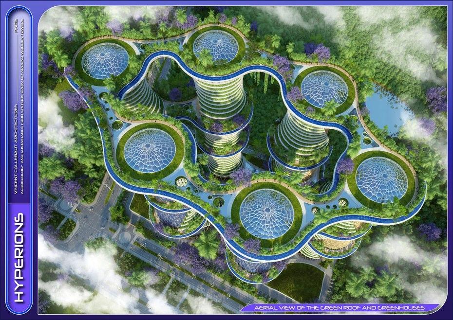برخی از ویژگی های قابل توجه این برج شامل توربین های بادی و پانل های خورشیدی تولید برق است که بر روی نمای این برج کار شده است و آب باران و آب اسیدی را ذخیره می کند و دوباره از آنها استفاده می نماید.