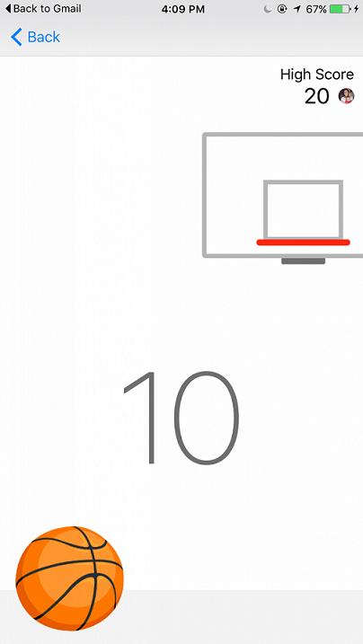 اگر شما بتوانید ۱۰ توپ را پشت سر هم وارد سبد کنید، بازی روی دیگر خود را به شما نمایش خواهد داد و امتیاز آوردن در آن کمی سخت تر می شود.