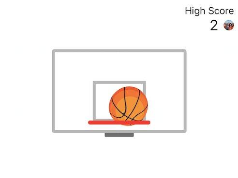 بازی بسکتبال طراحی شده برای اپلیکیشن مسنجر