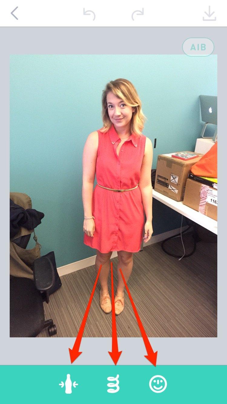 استفاده از اپلیکیشن اسپرینگ بسیار ساده و روان است. در گام اول باید عکس مورد نظر خود را آپلو کنید، سپس سه گزینه پیش روی شما قرار می گیرد: بلند کردن قد، لاغر کردن و تغییر اندازه ی صورت.