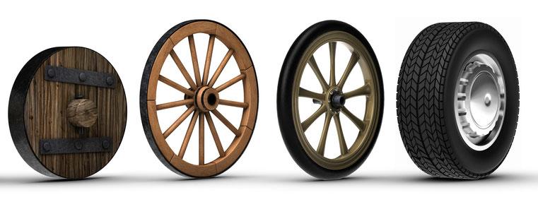 قبل از اختراع چرخ در ۳۵۰۰ قبل از میلاد، انسان ها به شدت در وسایلی که بتوانند برای حمل و نقل زمینی از آن استفاده کنند، محدود بودند.