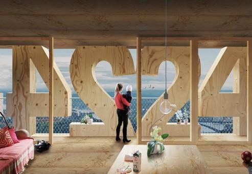 بلندترین آسمان خراش چوبی در استکهلم ساخته می شود