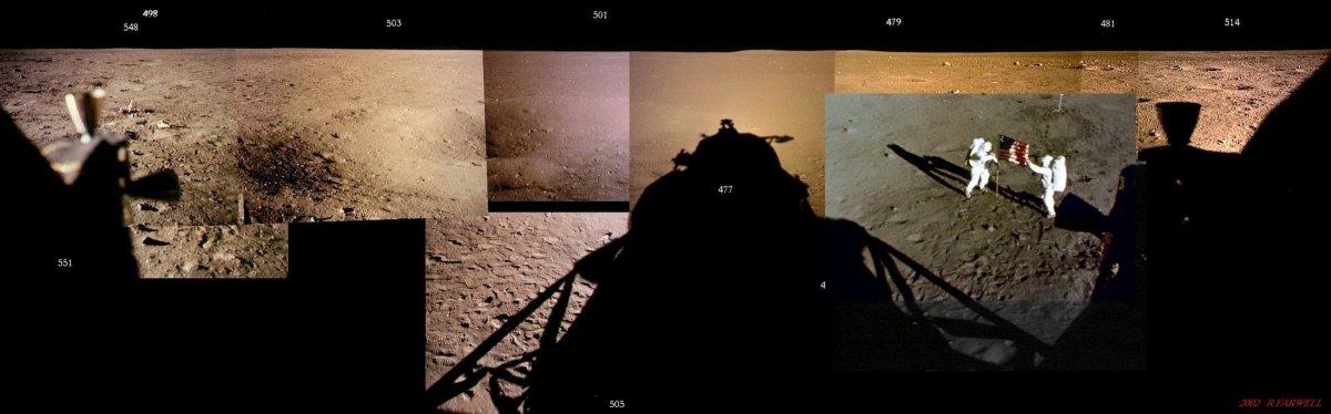 باب فرول در ژورنال Apollo Lunar Surface، عکسی که آرمسترانگ و آلدرین در حال قرار دادن پرچم آمریکا هستند را نیز در این مجموعه قرار داده است. این تصویر توسط دوربینی که بالای کاوشگر قرار گرفته بود، به ثبت رسیده است.