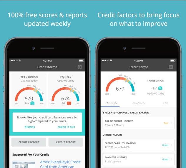Credit Karma  به شما امتیازهای اعتباری رایگان ارائه می دهد و به شما می گوید که چگونه می توانید امتیاز خود را بهبود ببخشید.