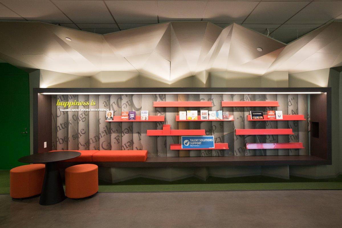 کارکنان این شرکت می توانند هریک از کتاب هایی که در اینجا موجود است را قرض بگیرند و مطالعه نمایند.