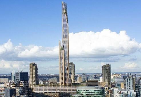 ساخت آسمان خراش چوبی در لندن