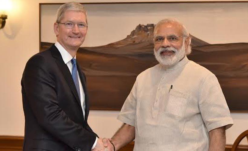 تیم کوک در دیدار با نخست وزیر هند از آینده اپل در این کشور می گوید