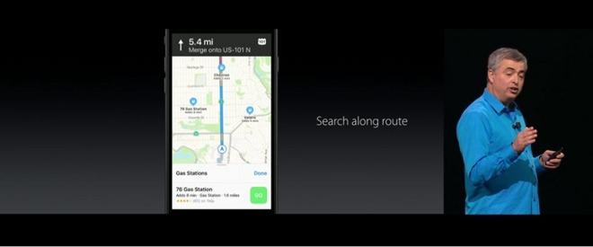 ظاهر اپل مپس نیز بهبود یافته و به کاربران اجازه خواهد داد تا میزان ترافیک در مسیرشان را مشاهده کنند. همچنین از دیگر موارد قابل توجه می توان به نمایش پویایی اشاره داشت که می تواند نسبت به شرایط رانندگی فعلی تنظیم شود. به عنوان مثال، هنگامی که در شهر حرکت می کنید، نقشه با بزرگنمایی مواجه خواهد شد تا شما بتوانید جزئیات خیابان را مشاهده کنید، اما هنگامی که در یک جاده مستقیم و طولانی در حرکت هستید، نقشه به صورت خودکار از زوم خارج خواهد شد تا شما دید بهتری نسبت به جاده داشته باشید.