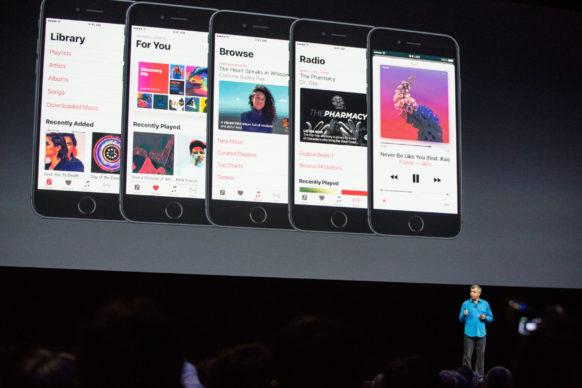 بازطراحی کامل اپل میوزیک و اضافه شدن بخش پیدا کردن آهنگ