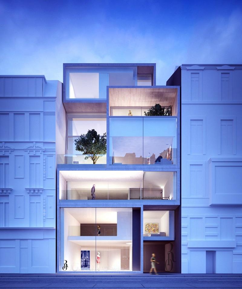 بهترین طرح مفهومی مسکونی: گلدن رشیو؛ یک آپارتمان چهار واحدی لوکس که در گنت بلژیک ساخته شده و طراحی آن را Govaert & Vanhoutte Architects به عهده داشته است.