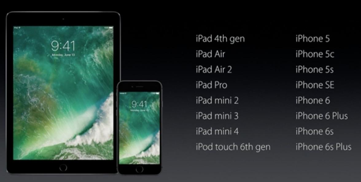 دستگاه های سازگار با iOS 10 کدامند؟