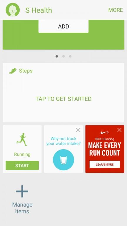 اپلیکیشن S health نیز در گوشی گلکسی J7 2016 به چشم می خورد اما بدون حسگرهای پیشرفته (برای ضربان قلب و مقدار اکسیژن خون)، عملکرد آن کمی محدودتر است.