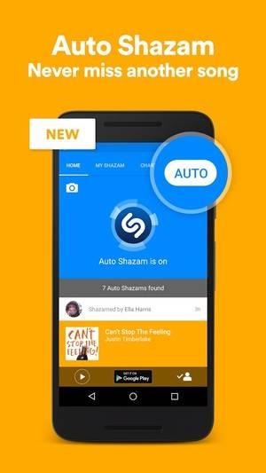 در آخرین بروزرسانی صورت گرفته برای اپلیکیشن شزم برای پلتفرم اندروید، یک قابلیت جدید به نام Auto Shazam اضافه شده است. اساس کار بدین صورت است که این اپلیکیشن در پس زمینه قرار خواهد گرفت و به آهنگ ها گوش داده به شناسایی آنها برای کاربران می پردازد. اپلیکیشن به روز شده ی شزم، اطلاعات به دست آمده از هر آهنگ را تا زمانی که کاربر اپلیکیشن را باز کند، ذخیره خواهد کرد.