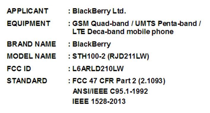 """گوشی جدید اندرویدی بلک بری با اسم رمز """"هامبورگ"""" در FCC ثبت شد"""