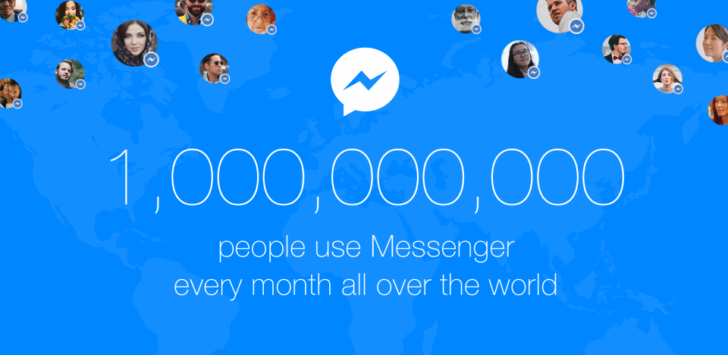 کاربران اپلیکیشن فیس بوک مسنجر یک میلیاردی شدند