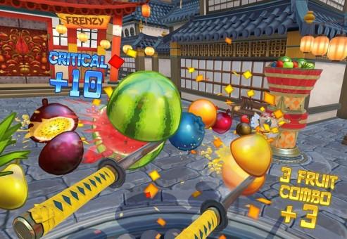 بازی واقعیت مجازی Fruit Ninja برای هدست HTC Vive