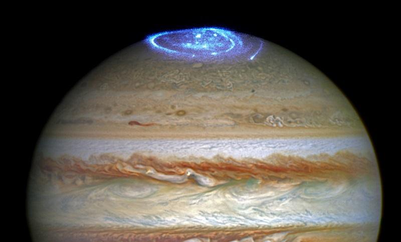 ثبت شفق قطبی سیاره ی مشتری توسط تلسکوپ هابل