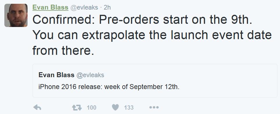 اینطور که به نظر می رسد روند سفارش برای پیش خرید گوشی های بعدی اپل از 9 سپتامبر آغاز خواهد شد.