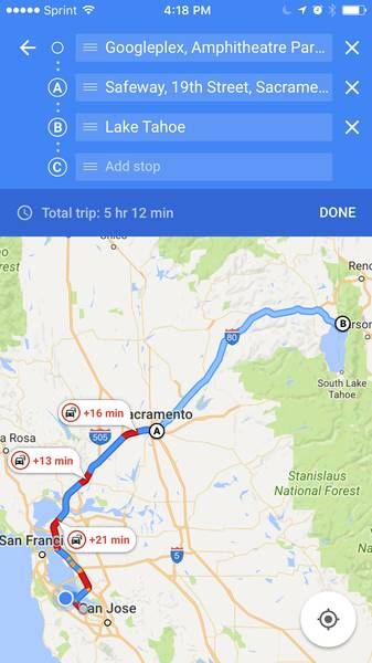 اپلیکیشن گوگل مپ در گذشته می توانست مسیر حرکت از نقطه ی A به نقطه ی B را نشان دهد؛ اما در حال حاضر و با آپدیت جدید می توانید مسیر حرکت از B به C و از آنجا به مقصد D، E و غیره را نیز پیدا کنید. بدین ترتیب، برنامه ریزی برای مسافرت های کوتاه با مقصد های مختلف آسان تر خواهد بود.