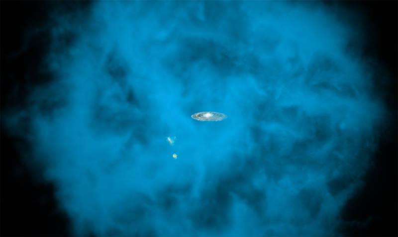 درک نحوه ی شکل گیری کهکشان راه شیری به کمک هاله ی چرخان پیرامون آن