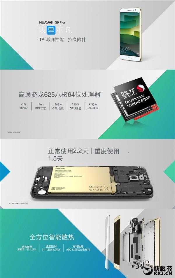 هوآوی G9 پلاس با 3 گیگابایت رم و 32 گیگابایت فضای ذخیره سازی
