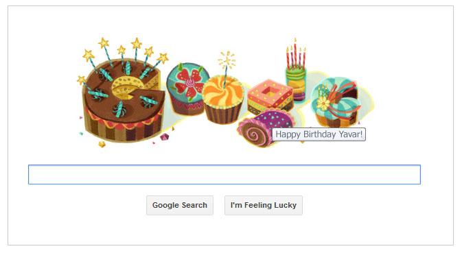 تمام کاربرانی که در مرورگر خود بوسیله حساب کاربری خود (+GMail ،Google و ...) ثبت نام کرده باشند، اگر در روز تولد خود نشانگر موس را بر روی لوگوی روز گوگل نگه دارند پیغامی با متن <Happy Birthday <Username به نمایش در می آید.