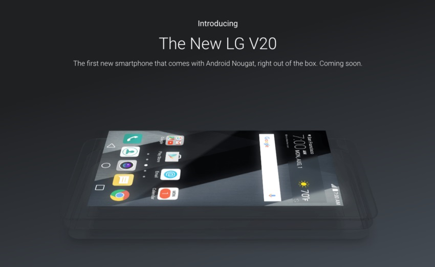 گوگل تایید کرد: موبایل ال جی وی 20 اولین گوشی مبتنی بر اندروید نوقا خواهد بود