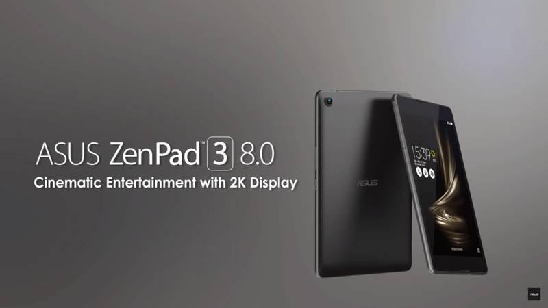 کمپانی ایسوس از تبلت ZenPad 3 8.0 رونمایی کرد