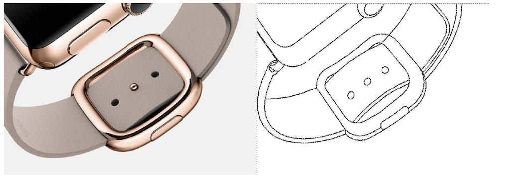المان های طراحی اپل واچ در نقاشی های پتنت به خوبی قابل ملاحظه ست؛ بنابراین این احتمال وجود دارد که کمپانی سامسونگ از طرح های اپل واچ الهام گرفته باشد