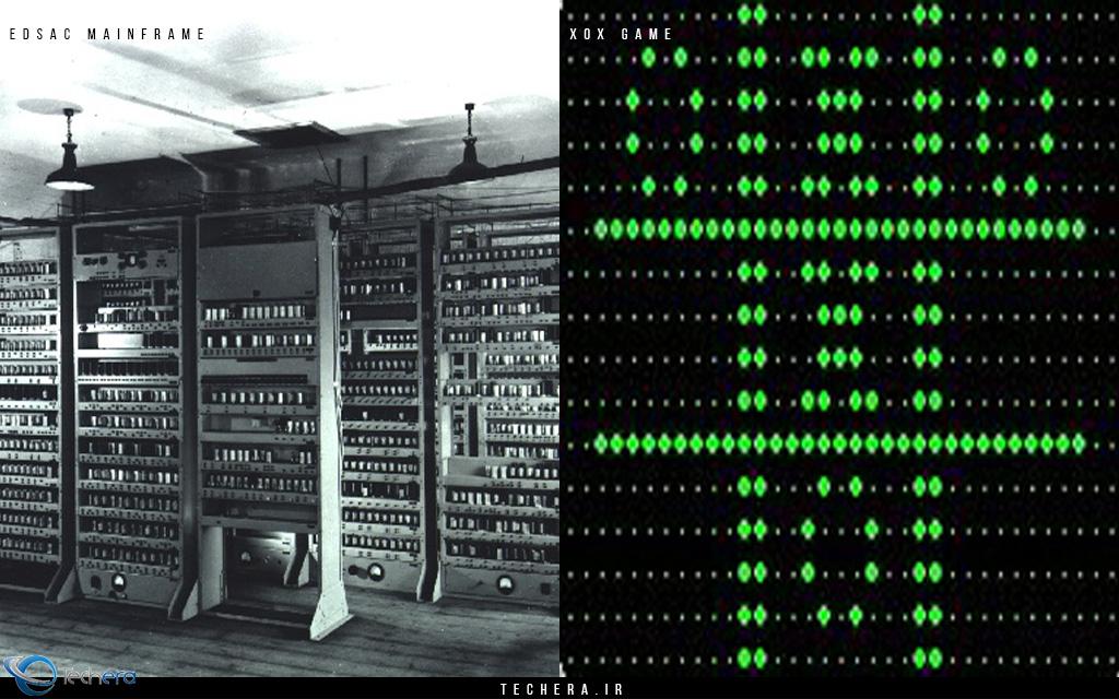 در سال 1952 بازی XOX یا همان بازی مشهور tic-tac-toe توسط پرفسور ای. اس. داگلاس (A. S. Douglas - تولد ۱۹۲۱ مرگ ۲۰۱۰) و در سبک معمایی ساخته شد. این بازی بر روی کامپیوتری با نام EDSAC طراحی و اجرا می شد و از اولین برنامه های تعاملی کامپیوتر و انسان بود. دستگاه EDSAC یکی از کامپیوترهای محاسباتی اولیه و با تکنولوژی لامپ کاتدی ساخت کشور انگلستان بود و توسط پروفسور مائوریس ویلکز (Maurice Wilkes) و تیمش در آرمایشگاه ریاضی دانشگاه کمبریج University of Cambridge Mathematical Laboratory طراحی و ساخته شده بود. این کامپیوتر حافظه ای برابر با 1024 بایت داشت.